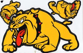 D212 Bulldog dog Sticker Decal Racing Tuning Size 27x18 cm / 10x7 inch - $3.49
