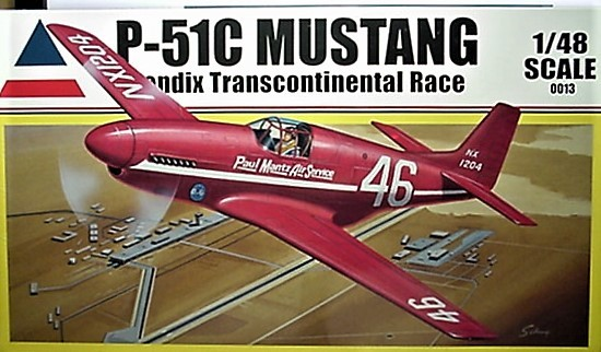 Accurate Miniatures 1/48 Kit 0013,  P-51C Mustang,  Bendix Transcontinental Race