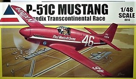 Accurate Miniatures 1/48 Kit 0013,  P-51C Mustang,  Bendix Transcontinental Race image 1