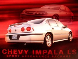 2001 2002 Chevy Impala LS Sport Appearance Package Brochure Card, NOS GM... - $17.33