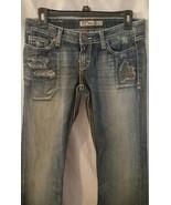 BKE denim stella boot cut jeans medium distress... - $16.99