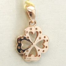 Pendant Rose Gold 750 18K, Four-Leaf With Zircon image 3