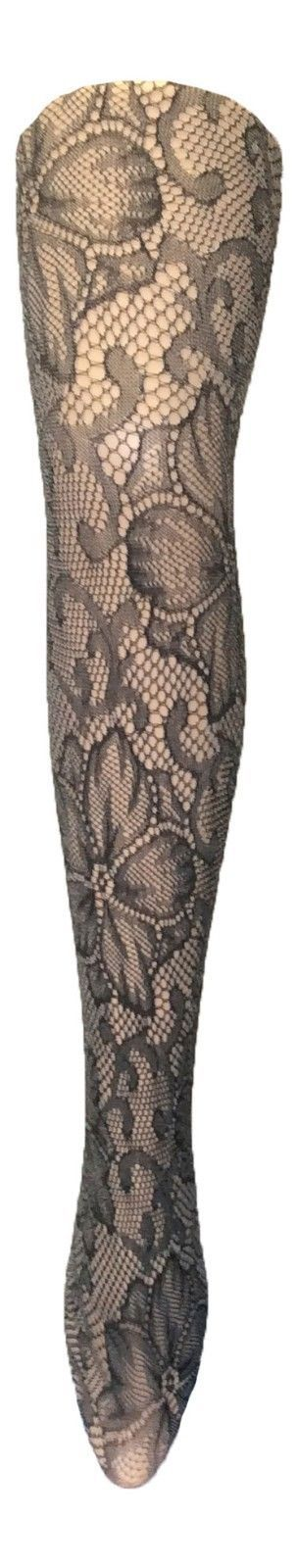 Ladies 40 Denier Designer Tights One Size 8-14 Uk, 36-42 Eur Black Tiger Lilly