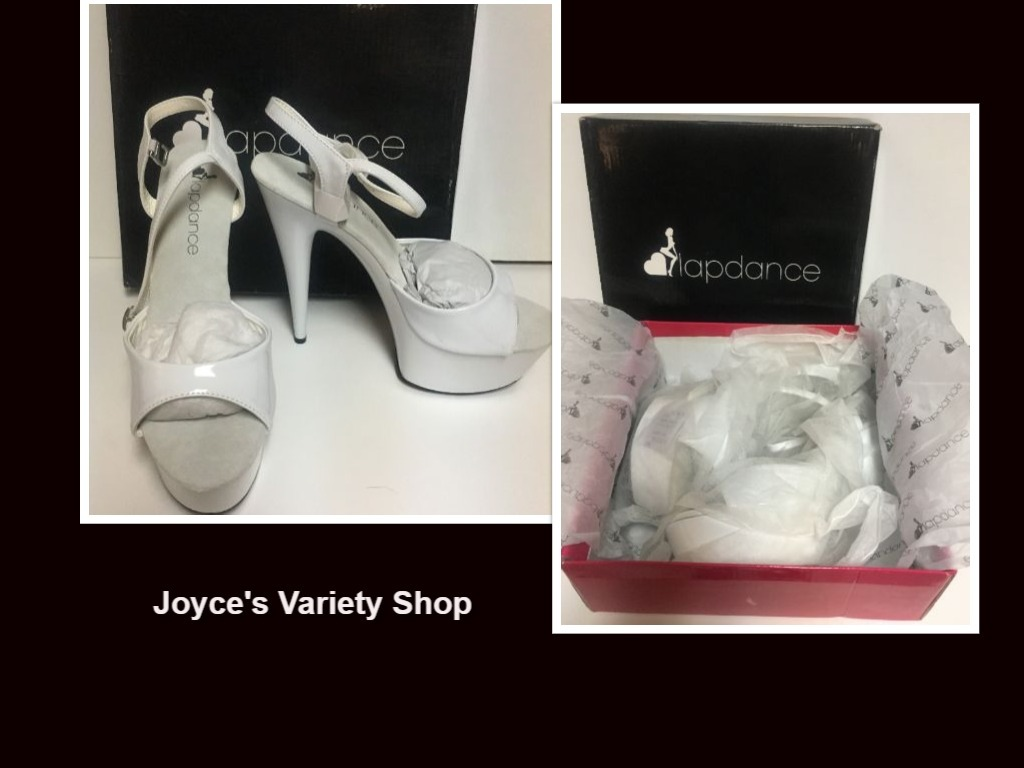 Lapdance white shoes 8 ebay collage