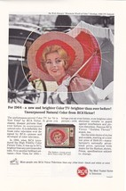 1964 Ad For RCA Victor Color Television Unsurpassed Natural Color from RCA - $5.99