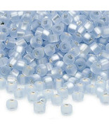 Matsuno 6/0, Matte SL Pale Blue, Square Hole Seed Bead, 50g glass beads ... - $6.75