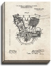 Internal-combustion Engine Patent Print Old Look on Canvas - $39.95+