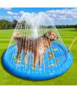 Swimming Pool Inflatable Water Spray Pad Mat Tub Summer Cool Dog Bathtub... - £28.65 GBP