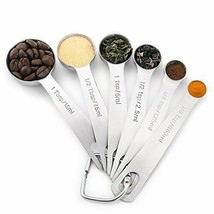 1Easylife 18/8 Stainless Steel Measuring Spoons, Set of 6 for Measuring ... - $14.81