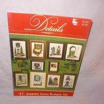 Jeanette Crews Details 184 Counted Cross Stitch Pattern Leaflet Book 199... - $15.99