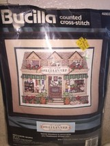 Bucilla Counted Cross Stitch Village Needlework Shoppe #40902 1994 - $13.53