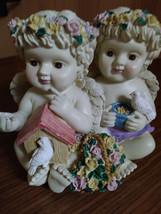 Twin Cherub Angel's Heavy Resin Music Box image 1