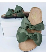 Womens Army Green Camo Print 2 Bow Slide Sandal Mule Shoes Open Toe Size... - $28.51