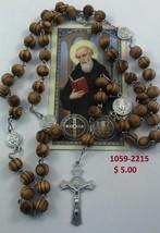 Saint Benedict Rosary wood /Rosario de san Benito de madera lot of 6 - $19.00