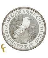2015 Australia 1 OZ de Plata Kookaburra ( Bu ) Brilliant Uncirculated Es... - $57.17