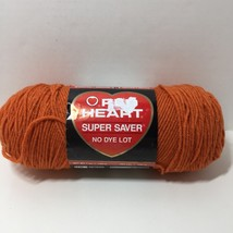 Super Saver Yarn 7 oz Worsted Weight Red Heart Cafe Carrot Acrylic - $7.84