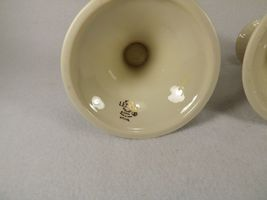 """Lenox Pair of Candle Holders Tapers Leaves Embossed Gold Trim Gold Mark 3 1/2"""" image 7"""