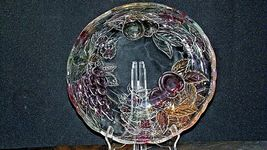 Heavy Etched Cut Glass  Punch Bowl AA20-CD0056 Vintage image 10