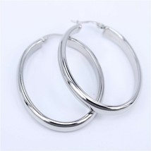 Stainless Steel Hoop Earrings Big Circle Fashion Jewelry for Women Gold ... - $10.00