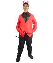 Adult Men's Devil Costume | Black & Red Halloween Costume HC-1504 - $31.85