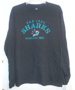 NHL San Jose Sharks Mens Long Sleeve T-Shirt Sizes Sm, Med, Lg or XLg NWT - $24.99