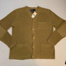 NWT Polo Ralph Lauren Men's Linen Cotton Cardigan Button Sweater Large N... - $140.24