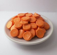 Carrots Dinner Side on a Dish Perfect for 18 Inch American Girl Dolls - $9.99