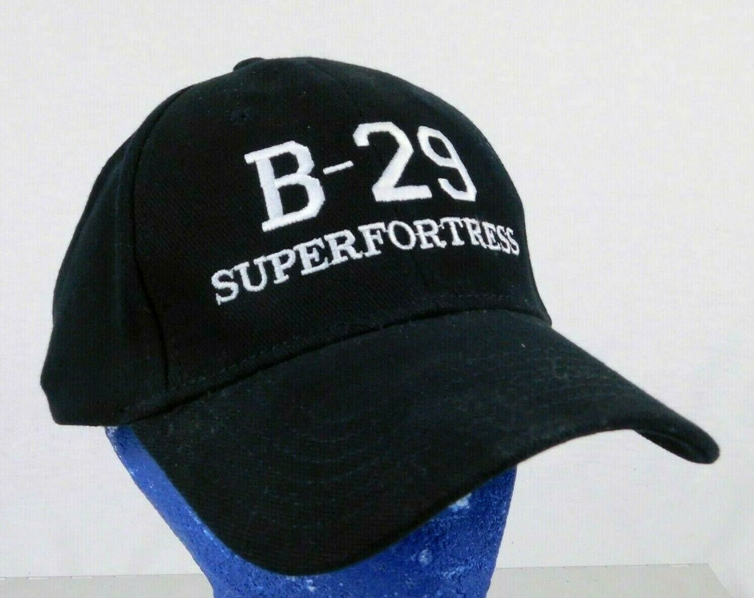 Primary image for B-29 Superfortress Plane Black Baseball Cap Hat Commemorative Air Force Box Ship