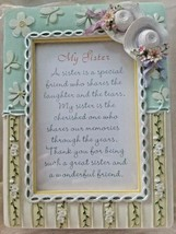 Standing Photo Frame W/Music Box, My Sister, You Light Up My Life by Sen... - $9.65