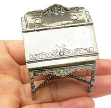 925 Sterling Silver - Vintage Sculpted Desk Table Decoration (OPENS) - T... - $136.04