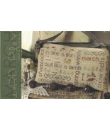 March  Word Play cross stitch chart  With Thy Needle Brenda Gervais  - $9.00