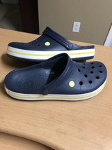 Crocs Men's 12 Clogs / Sandals, Navy Blue Croc Band - $20.30