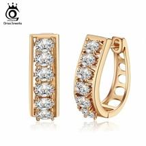 OrsaJewels® 6Pc/Set AAA Clear Cubic ZirconHoop Earrings For Women Prong - $6.13