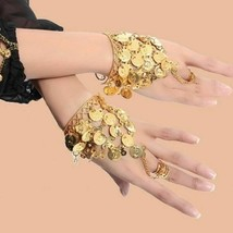 Dancer Bracelets Bollywood Dance Wear Jewelry Style Pair Jewelry Set Acc... - $10.68