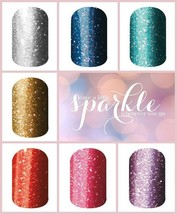 Jamberry Nail Wraps Assorted *SPARKLE* Lot 20 Wrap Pieces Plus Gift Accent Set - $14.50