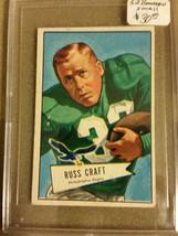1952 Bowman Small #116 Russ Craft  : Philadelphia Eagles - $9.45
