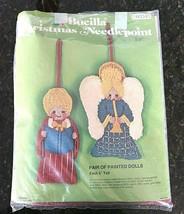 Vintage Bucilla Painted Ornaments Needlepoint Kit  Angel Christmas Choir - $17.77