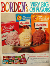 Vtg 1960 Borden's Ice Cream Elsie the cow retro advertisement print ad art - $12.99