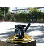 Cement Concrete Surface Finisher Power Trowel w/6.5HP Gas Engine &  Floa... - $881.09