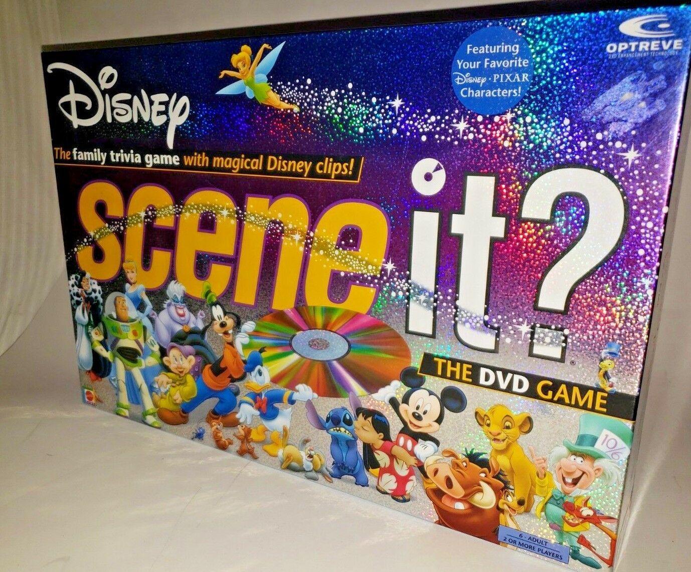 Disney Scene It! The DVD Game 1st Edition 2004 Mattel Pixar Characters!!!!