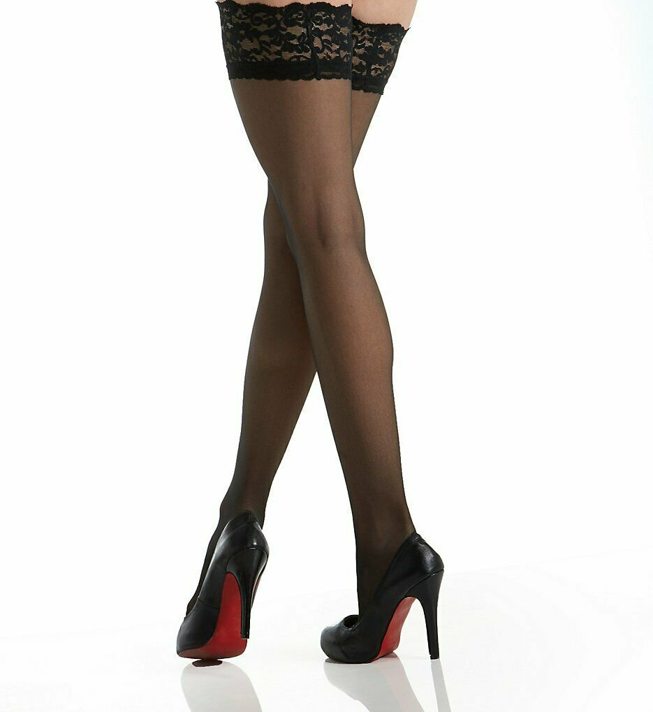 Berkshire BLACK Firm All The Way Thigh Highs, 2-Pack, US 1X/2X