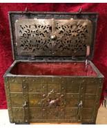 NUREMBERG  TREASURE CHEST 1600's WROUGHT IRON ARMADA BOX ARTIFACT PIRATE... - $17,500.00
