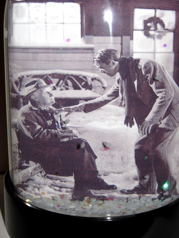 It's a Wonderful Life Snow Globe George Bailey & Clarence Martini's Snowglobes