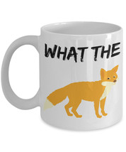 "Fox Pun Mugs ""What The Fox Funny Fox Coffee Mug"" Great Gift For Anyone W... - $14.95"
