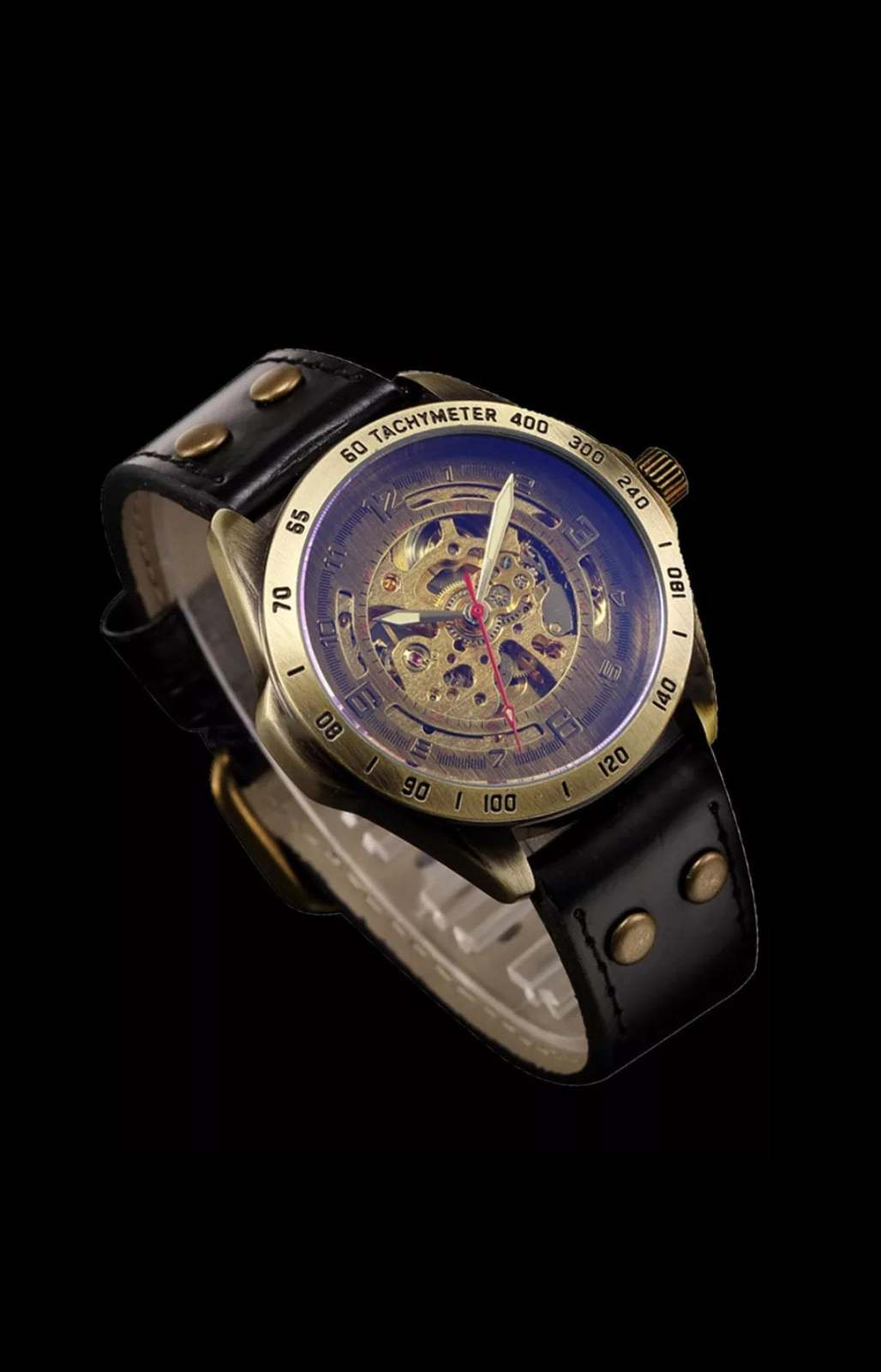 Luxury Vintage Retro Automatic Mechanical Watch- Automatics Self-Wind- Antique w image 3