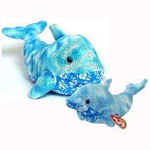 Docks The Dolphin Ty Beanie Baby and Buddy Set Retired MWMT Collectible - $65.29