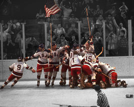 1980 US Olympics Celebration SFOL Vintage 24X30 Color Hockey Memorabilia Photo - $41.95