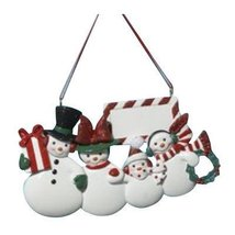 Kurt Adler Resin Snowman Family of Four Ornament - $15.00