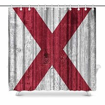 InterestPrint Flag of Alabama State (USA) on Wood Waterproof Polyester F... - $47.25 CAD