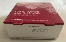 Lot of (4) boxes of 12ct Wine Wipes Teeth Lips & Mouth individually foil wrapped image 4